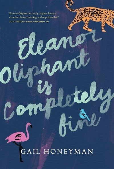Blue Book Cover for Eleanor Oliphant is Completely Fine by Gail Honeyman