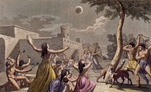 Ancient Greeks terrified by the solar eclipse, as they feared it the result of angry Gods set to put forth devastation and destruction