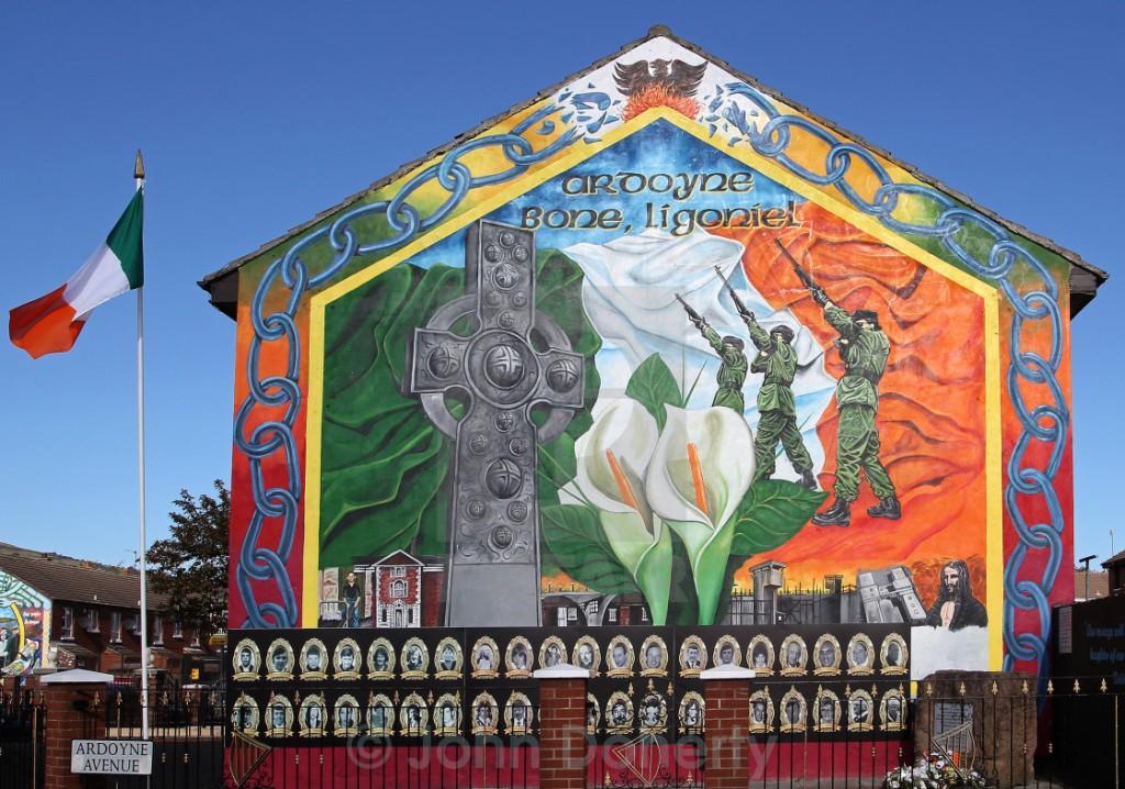 IRA mural and memorial