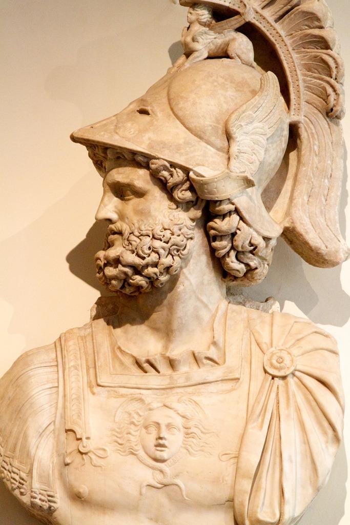 Statue of Roman god Mars