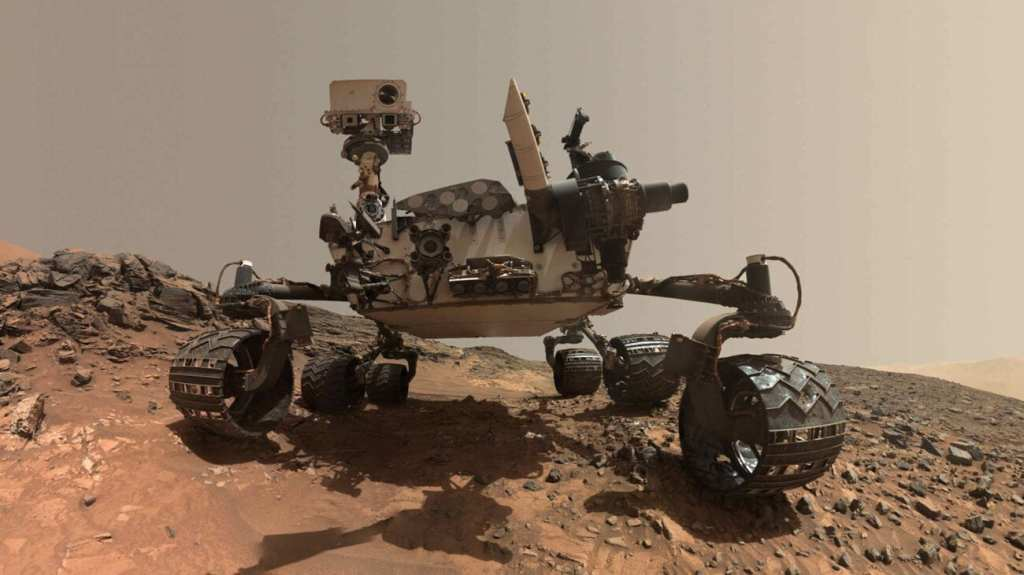 Image of the Mars Rover Curiosity in 2012