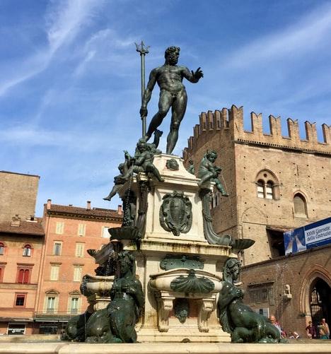 Statue of god Neptune