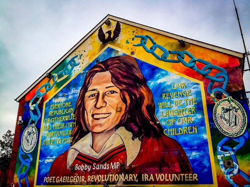 Mural and memorial of Bobby Sands