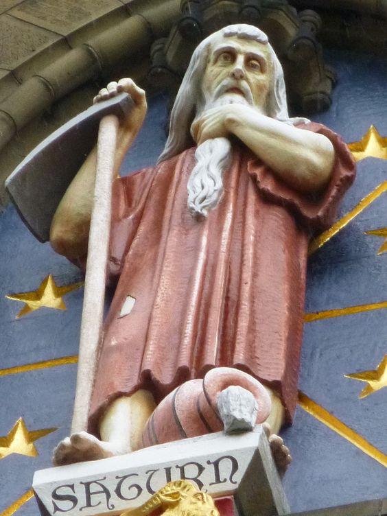 Statue of Roman god Saturn