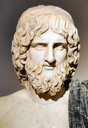 Statue of Greek god Uranus