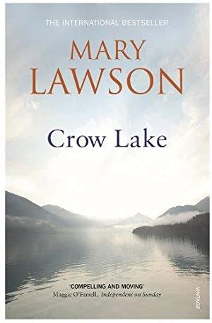 Book Cover for Crow Lake by Mary Lawson showing an image of a misty lake reflecting the cloudy sky.