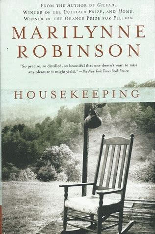 Book Cover for Housekeeping by Marilynne Robinson showing an empty rocking chair on a porch